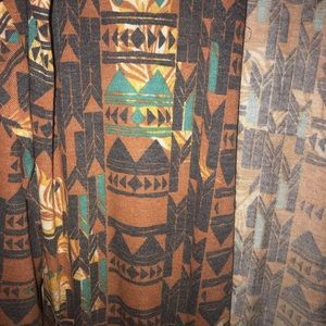 Sweaters - LuLaRoe Brown Aztec Sarah Size XL NWOT